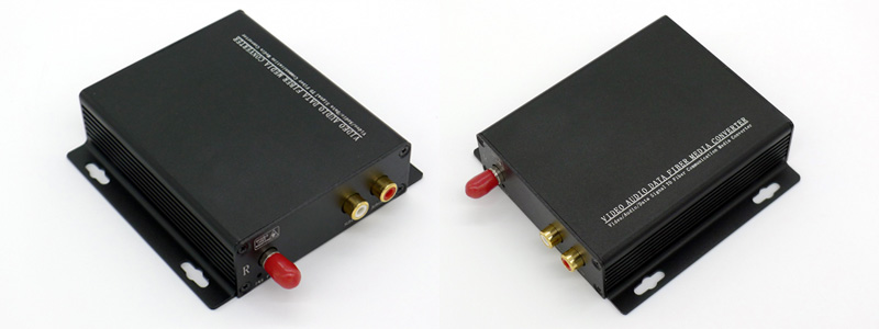 2 Channel RCA Audio over Fiber Extender